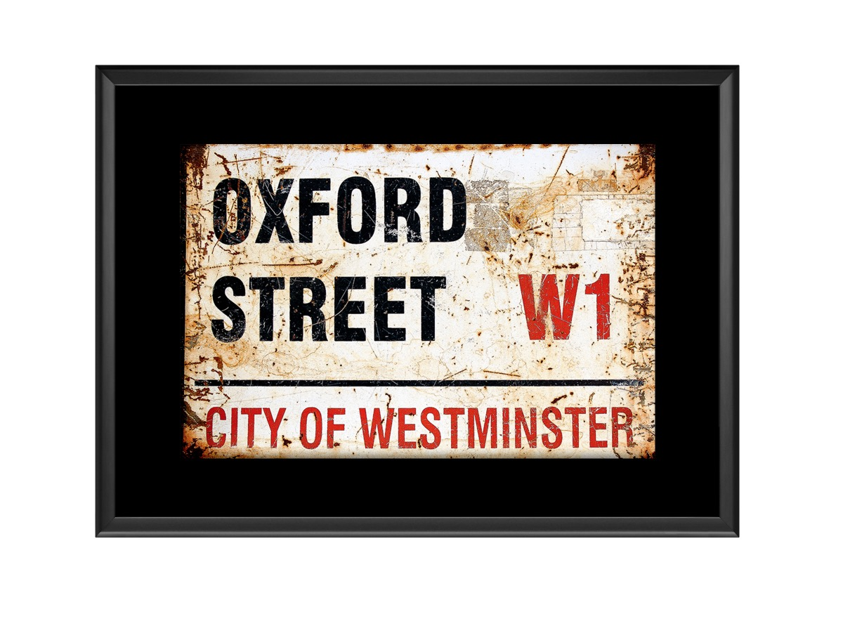 Oxford Street Road Sign Photo Print