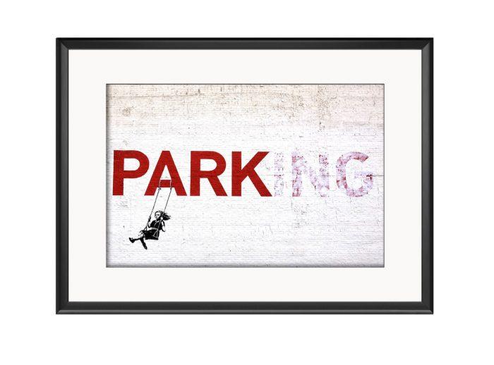 Parking Swing Girl  Photo Print
