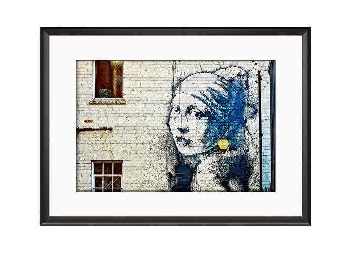Girl Wearing Pearl Earing  Photo Print