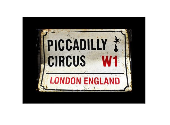 Piccadliy Circus Road Rign  Photo Print