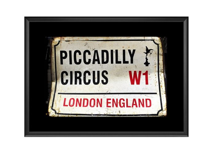Piccadliy Circus Road Rign  Photo Print