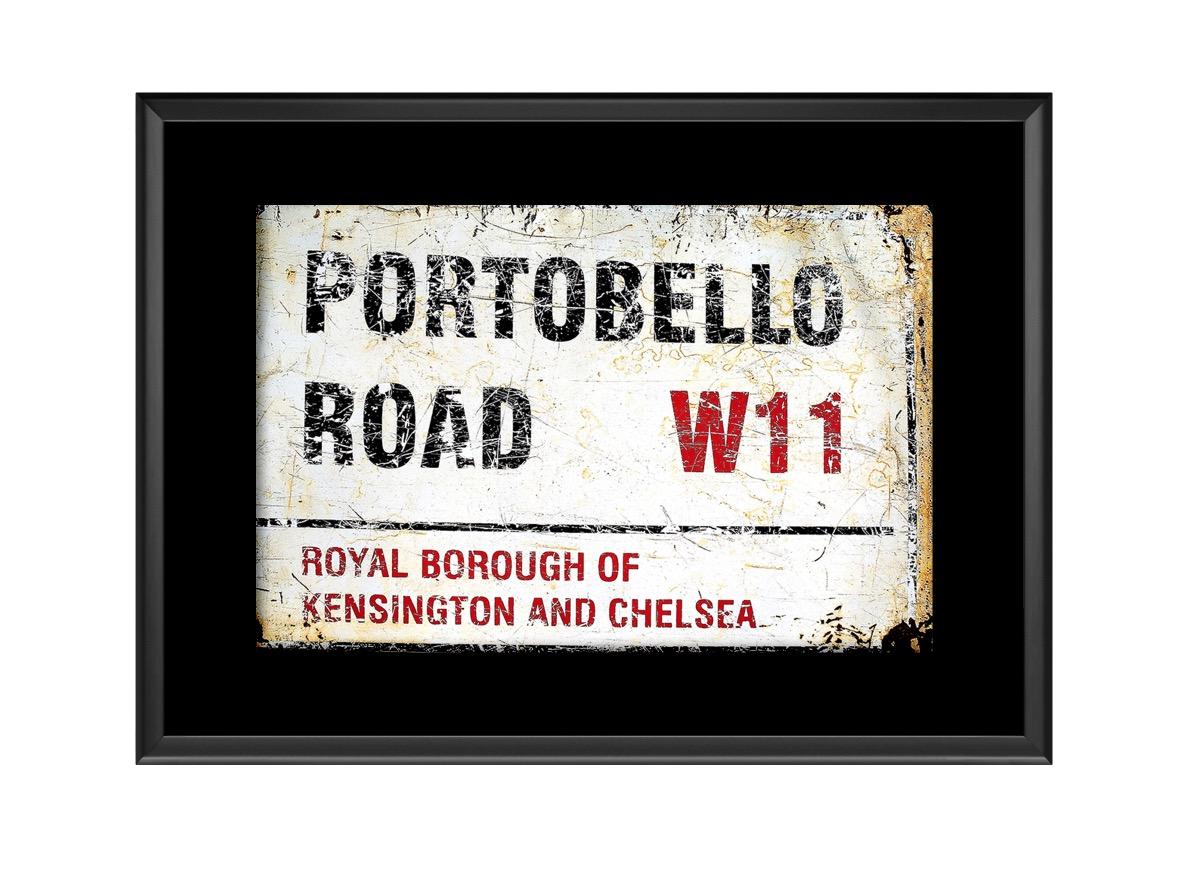 Portobello Road Road Sign  Photo Print