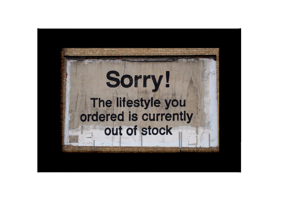 Sorry Your Lifesystle  Photo Print