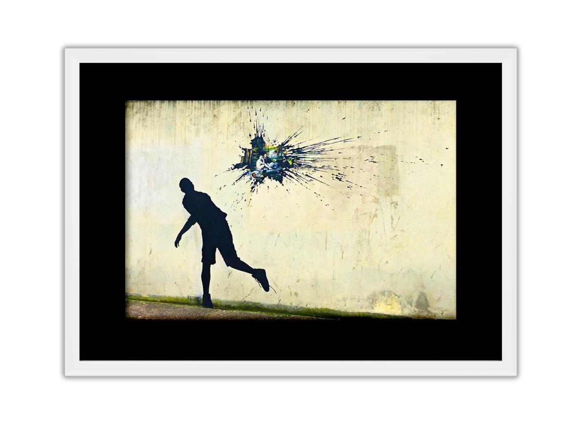 Splash On Wall  Photo Print
