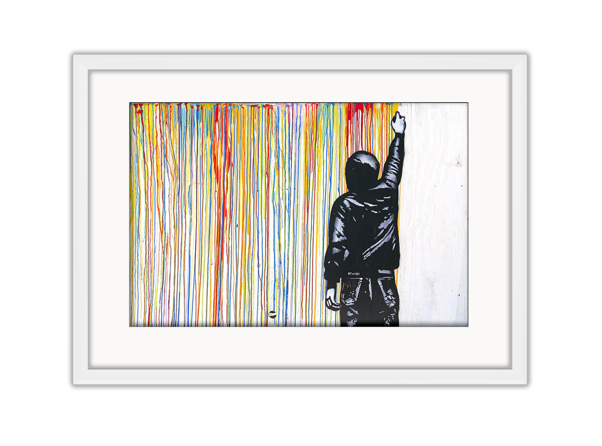 Stripe Wall Photo Print