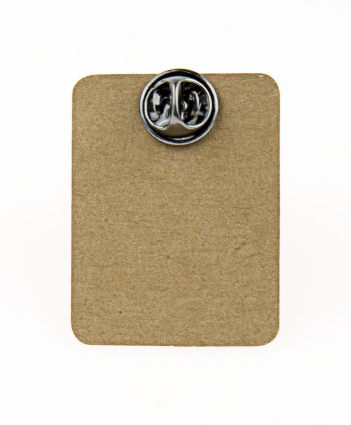 Metal Orange Bug Enamel Pin Badge