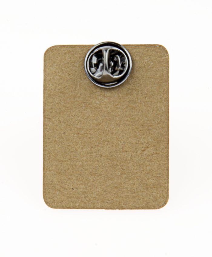 Metal Skeleton Carrying Girl Enamel Pin Badge