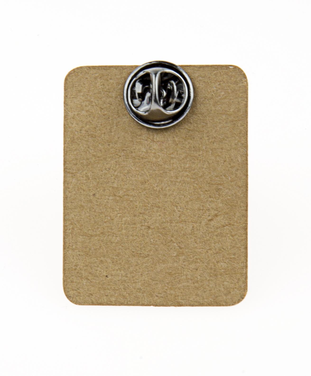 Metal Black&White Peace Sign Enamel Pin Badge